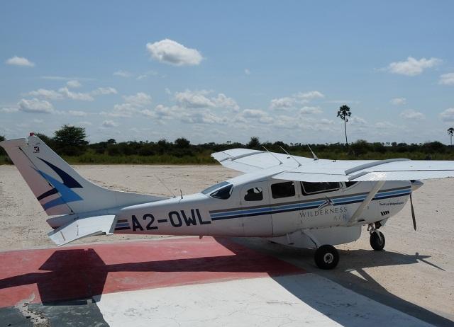 Sportflugzeug für eine Flugsafari in Botswana