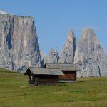 Blick auf den Schlern - Wahrzeichen der Dolomiten