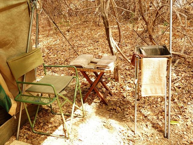 Veranda vor dem komfortablen Zelt im South Luangwa