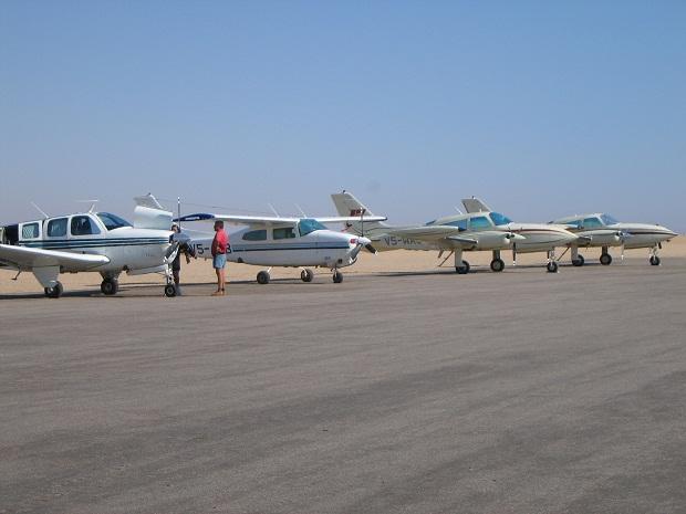 Der Flughafen von Swakopmund ist der Ausgangsort für einen Rundflug in Namibia
