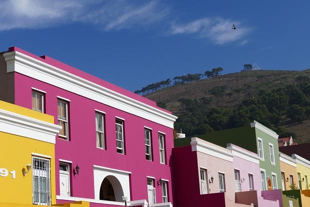 Blick vom Bo-Kaap auf den Signal Hill