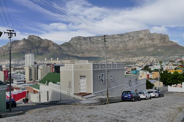 Blick vom Bo-Kaap auf den Tafelberg