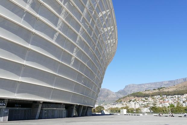 Fußballstadium in Kapstadt