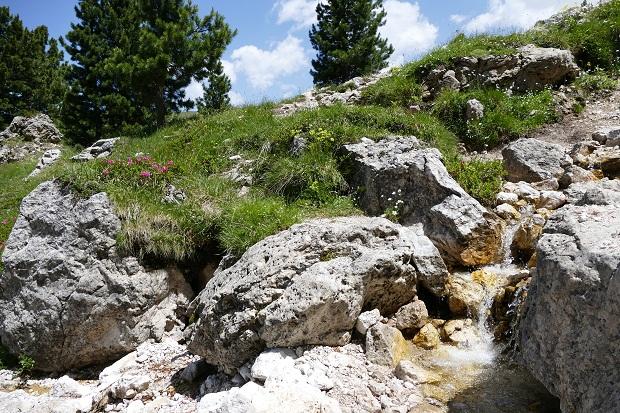 Bergbach in den Dolomiten