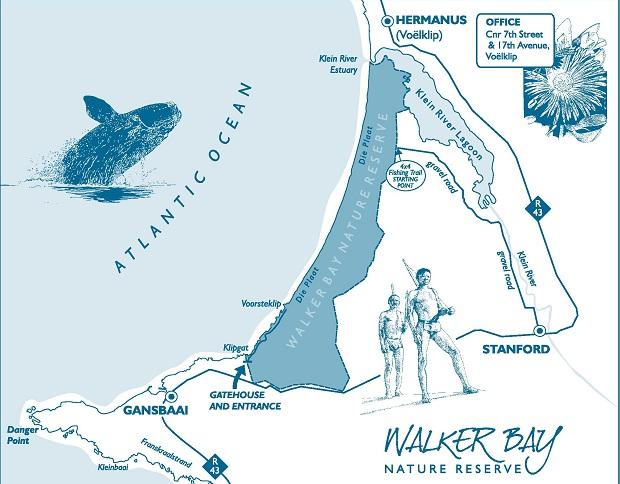 Karte der Walker Bay