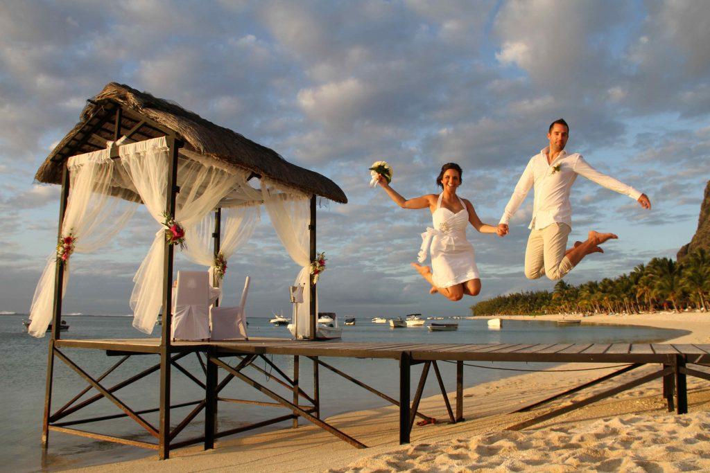 Hochzeitspaar Mauritius Steg