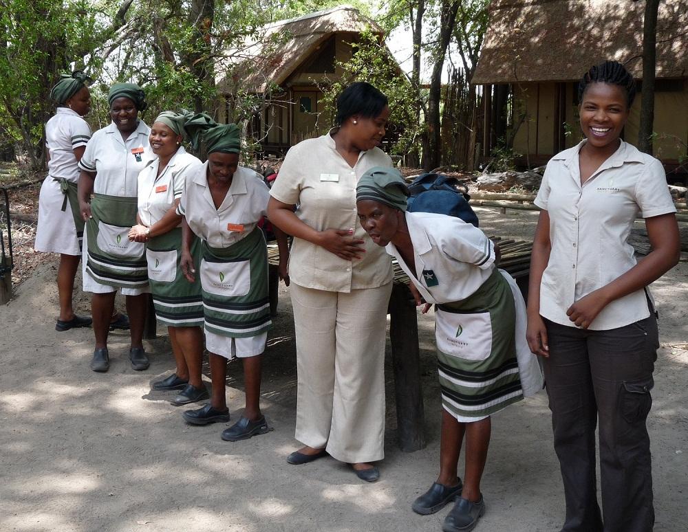 Campchor in Botswana