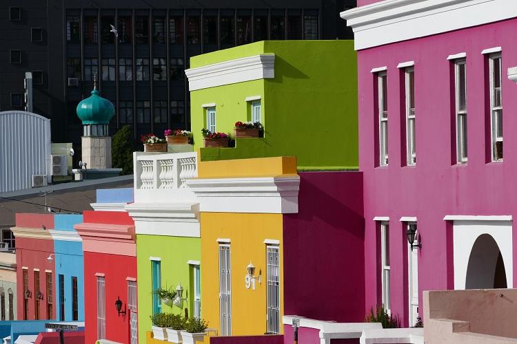 Farbenfrohes Bo Kaap in Kapstadt