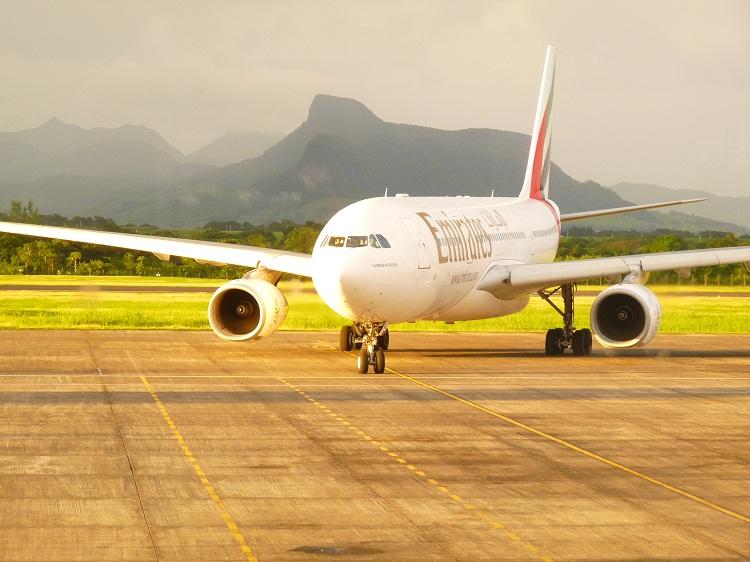 Ankunft mit dem Flieger auf Mauritius