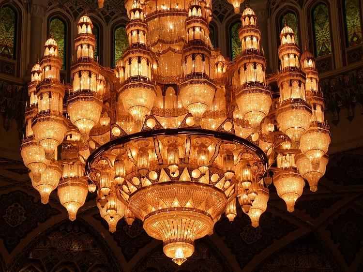 Muskat Kronleuchter Sultan Quaboos Moschee