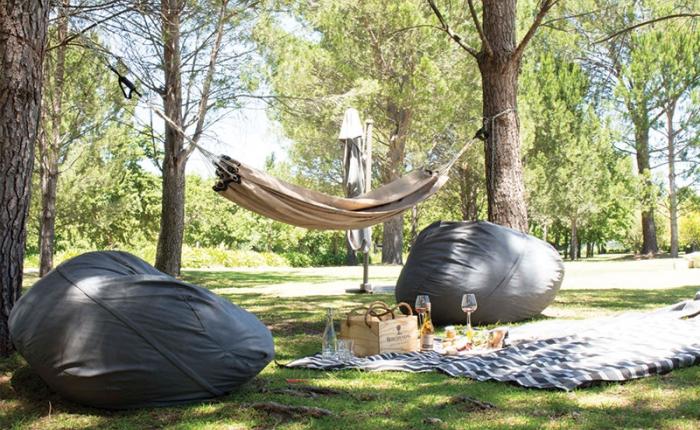 Picknick auf dem Werf Lawn in Boschendal
