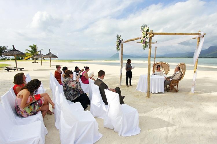 Hochzeit am Strand von Mauritius