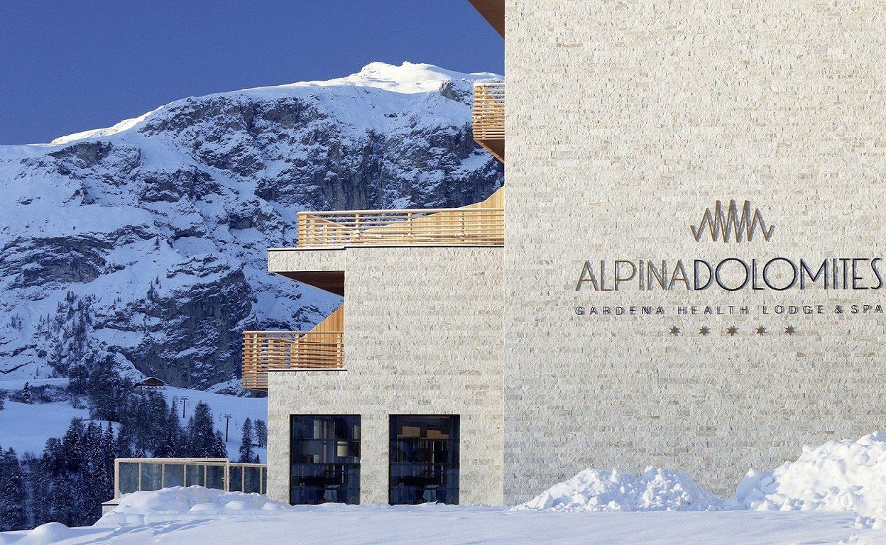 Die klaren Linien der Architektur des Luxushotels auf der Seiser Alm