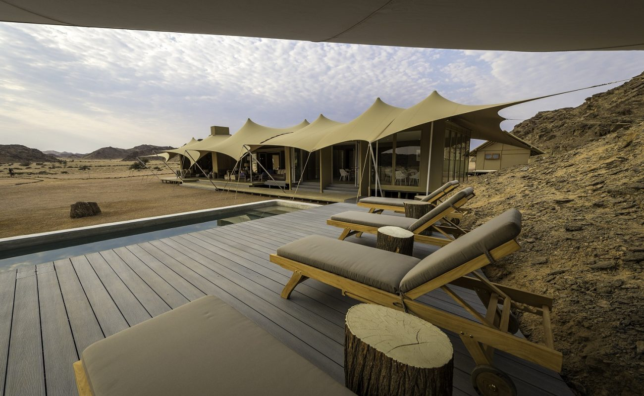 Luxus pur - der Pool des Wilderness Camps in Namibia