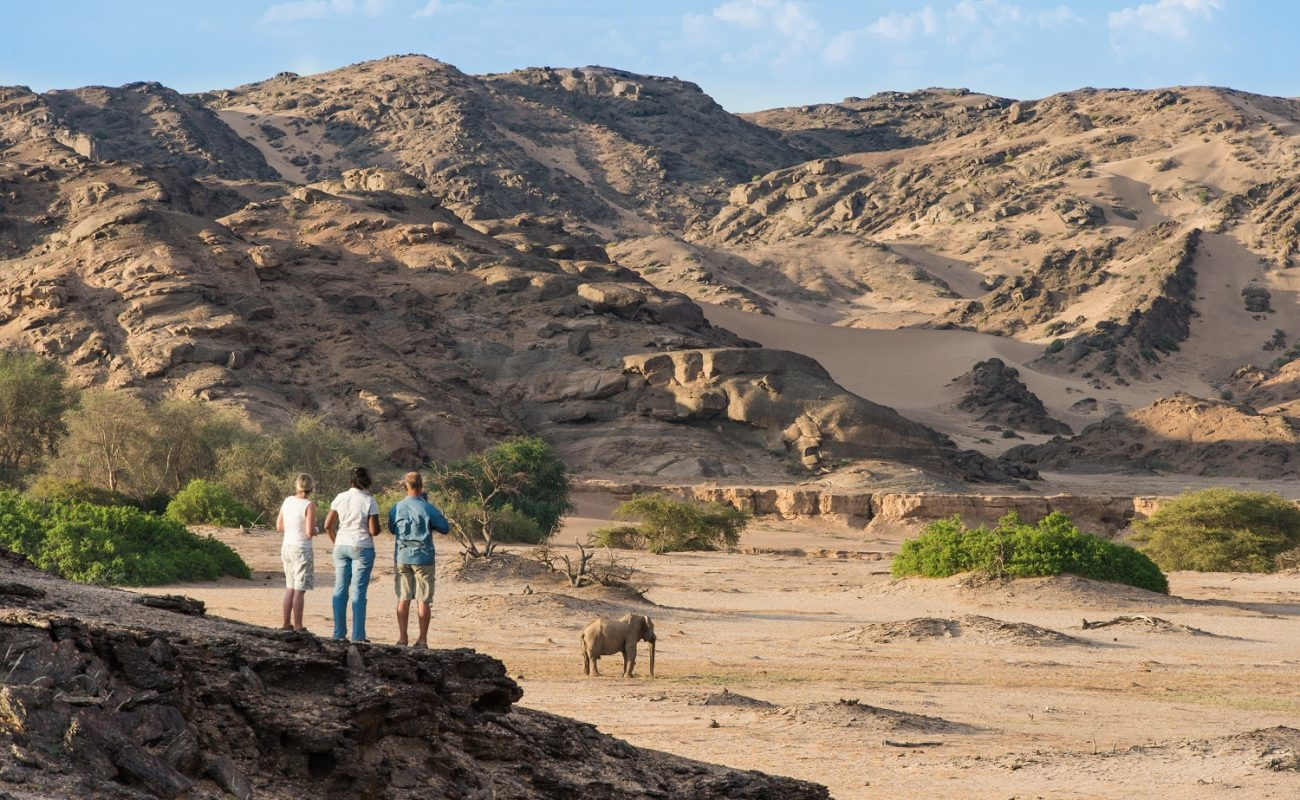 Eine Walking Safari in der Umgebung von Hoanib Skeleton Coast Camp