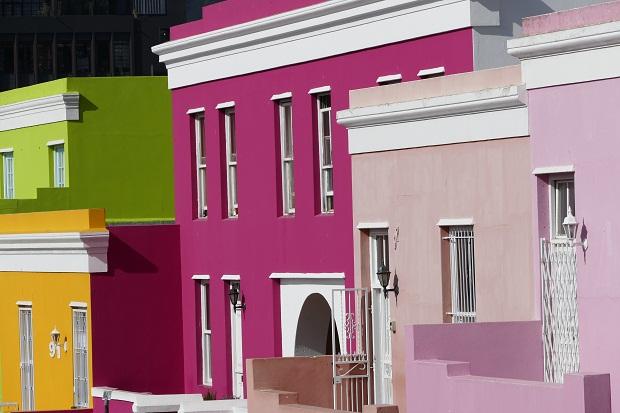Farbenrausch im Bo-Kaap in Kapstadt
