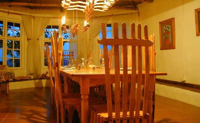Speisezimmer der Antbear Drakensberg Lodge