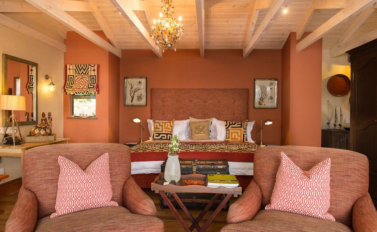 Warme Farben der Lamu Suite