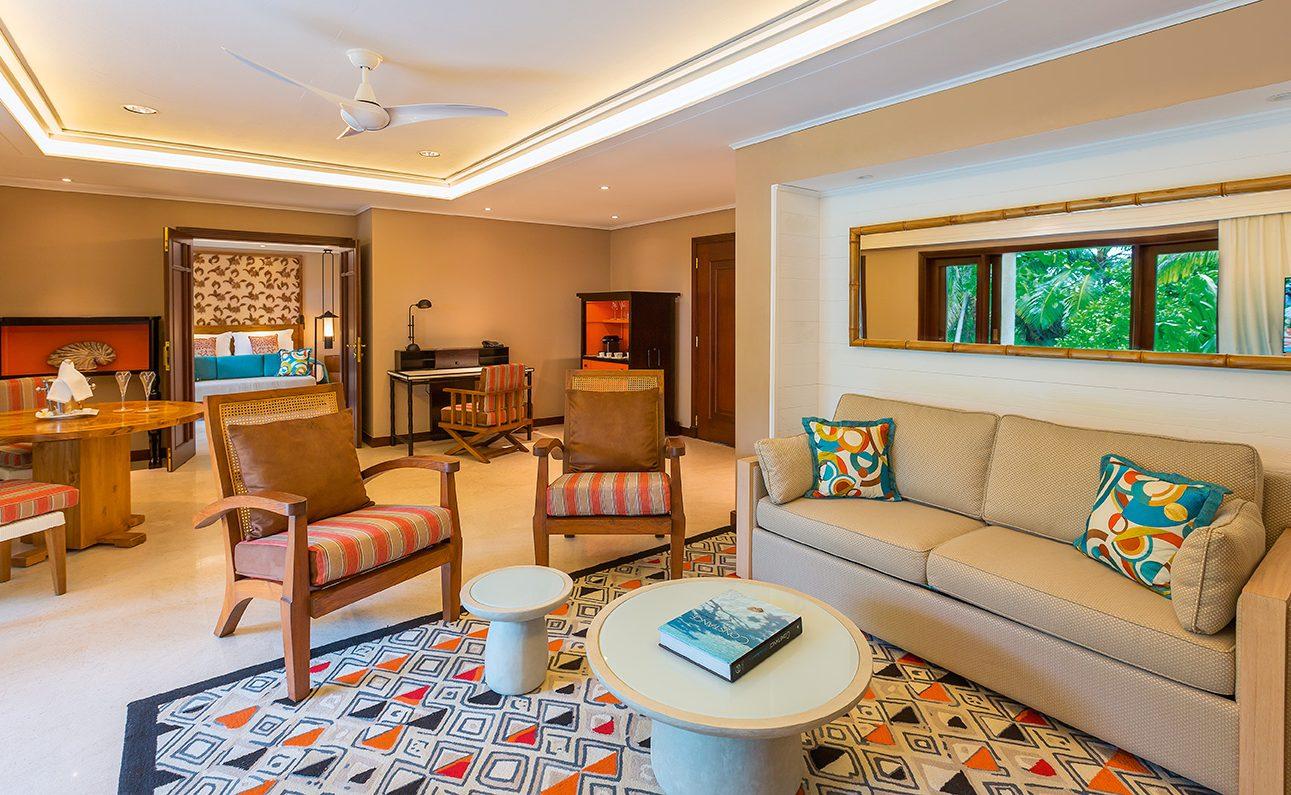 Wohnbereich der Senior Suite im Constance Lemuria