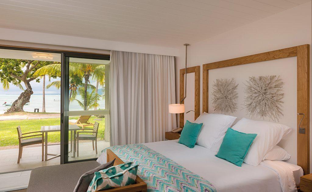 Die neu gestalteten Ocean Beachfront Zimmer des Beachcomber Paradis