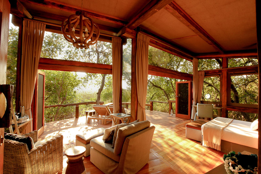 Suiten des Camp Okavango in Botswana