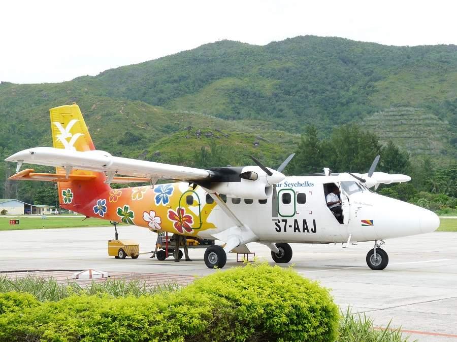 Kleinflugzeug auf den Seychellen