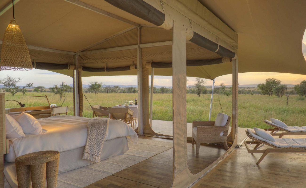 Die offen gestalteten Zelte von Roving Bushtops