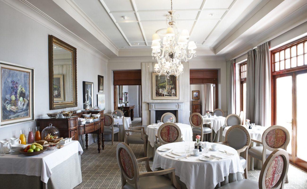 Das elegante Restaurant des Boutiquehotels in Kapstadt