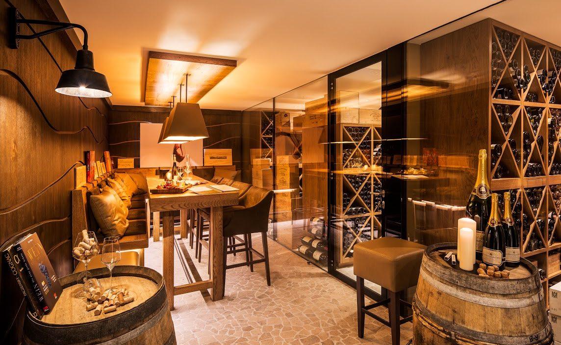 Weinkeller im Luxushotel auf Sylt