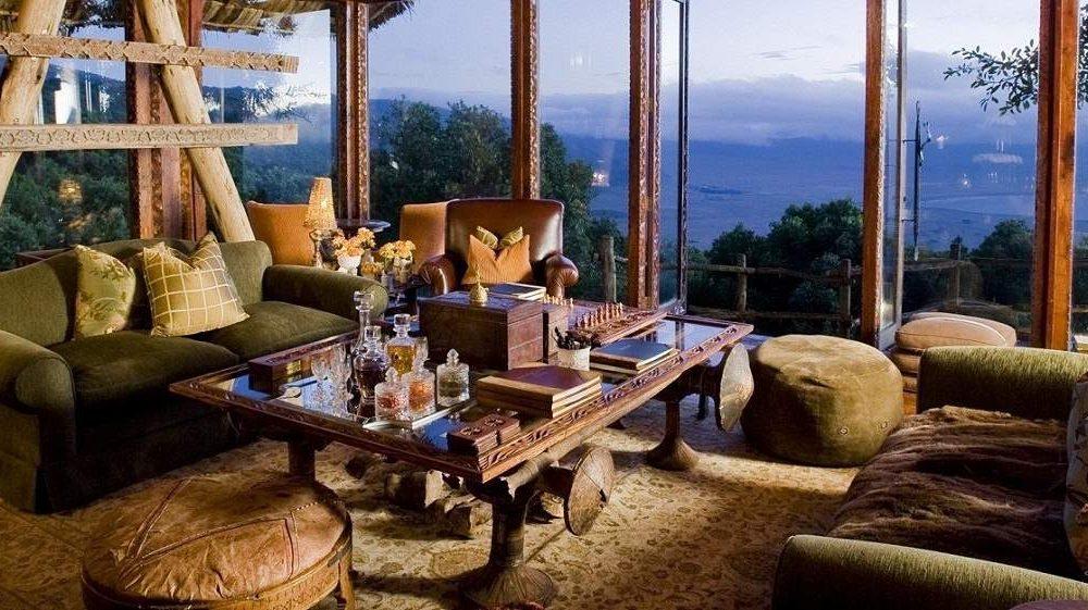 Luxuslodge von AndBeyond am Ngorongoro Krater