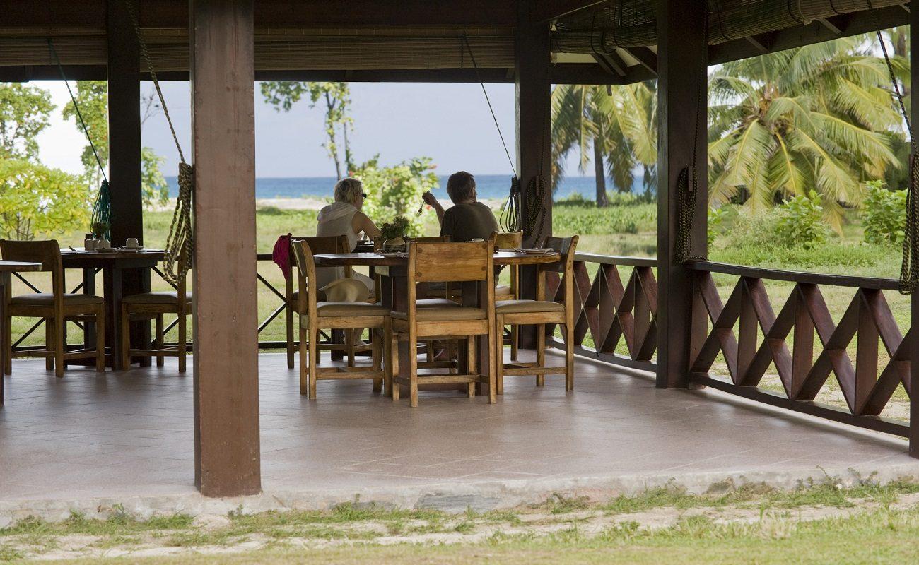Restaurant der Bird Island Lodge