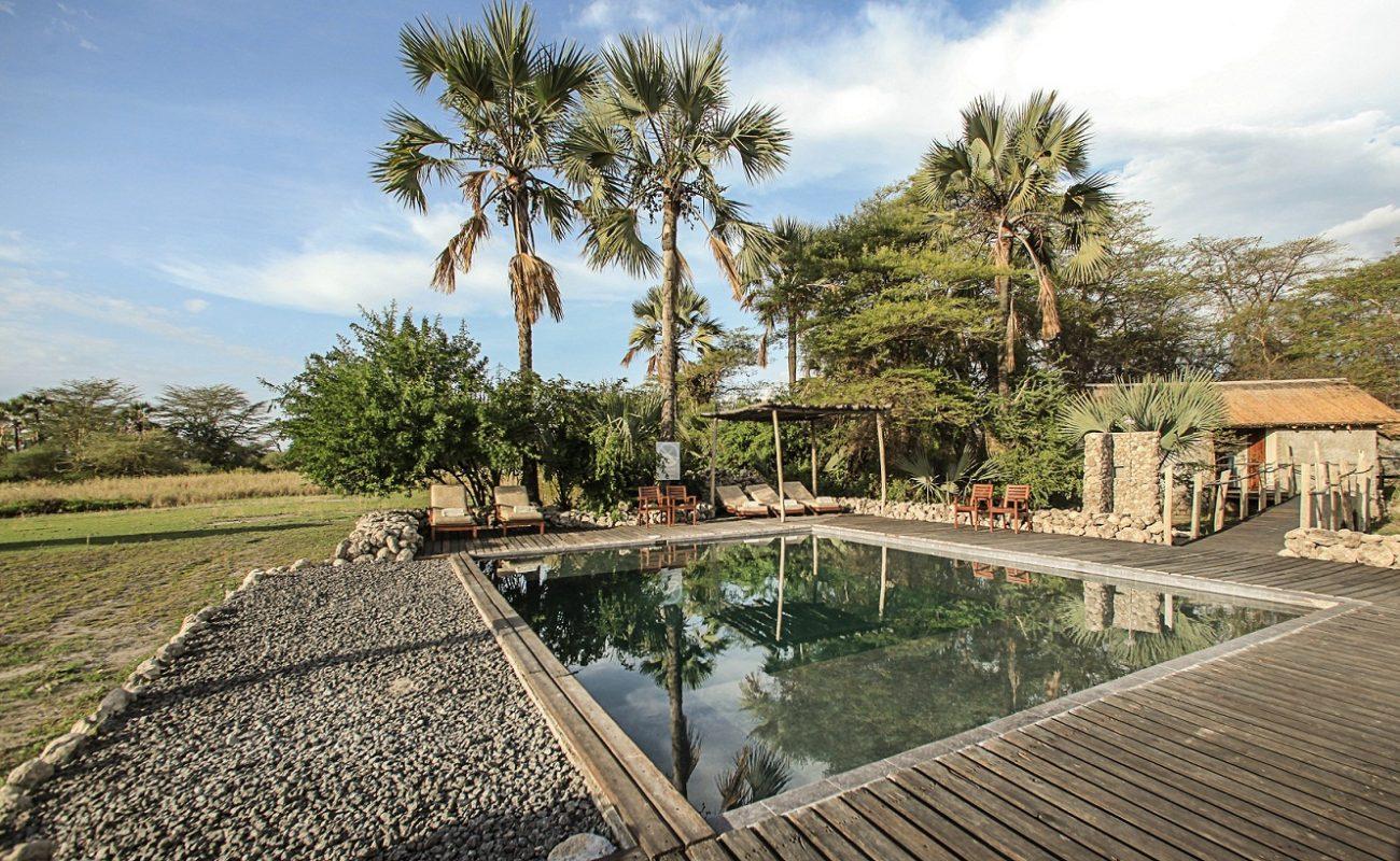 Auch auf einen Pool müssen Sie im Luxuscamp in Tansania nicht verzichten