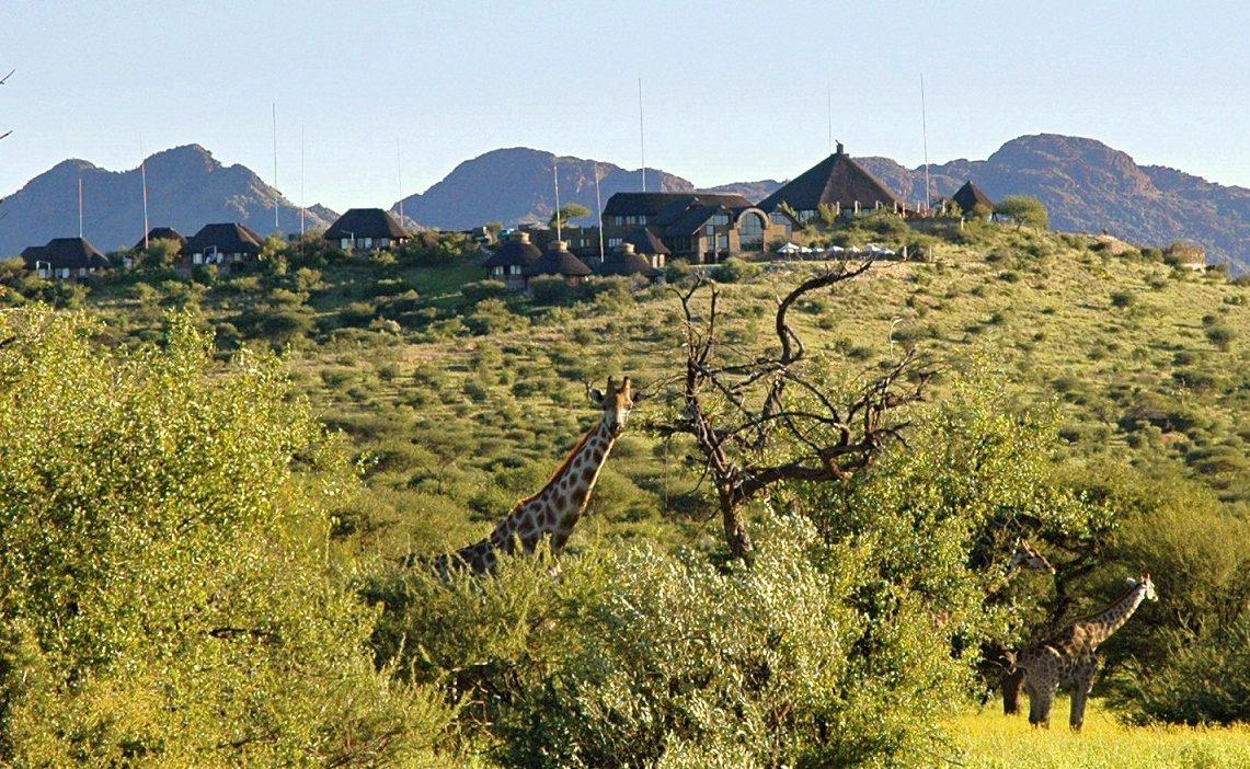 Giraffen vor GocheGanas Namibia