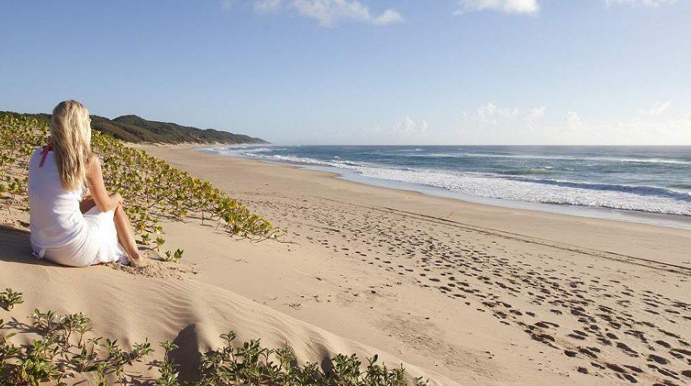 Strand Genuss an der Küste von KwaZulu Natal