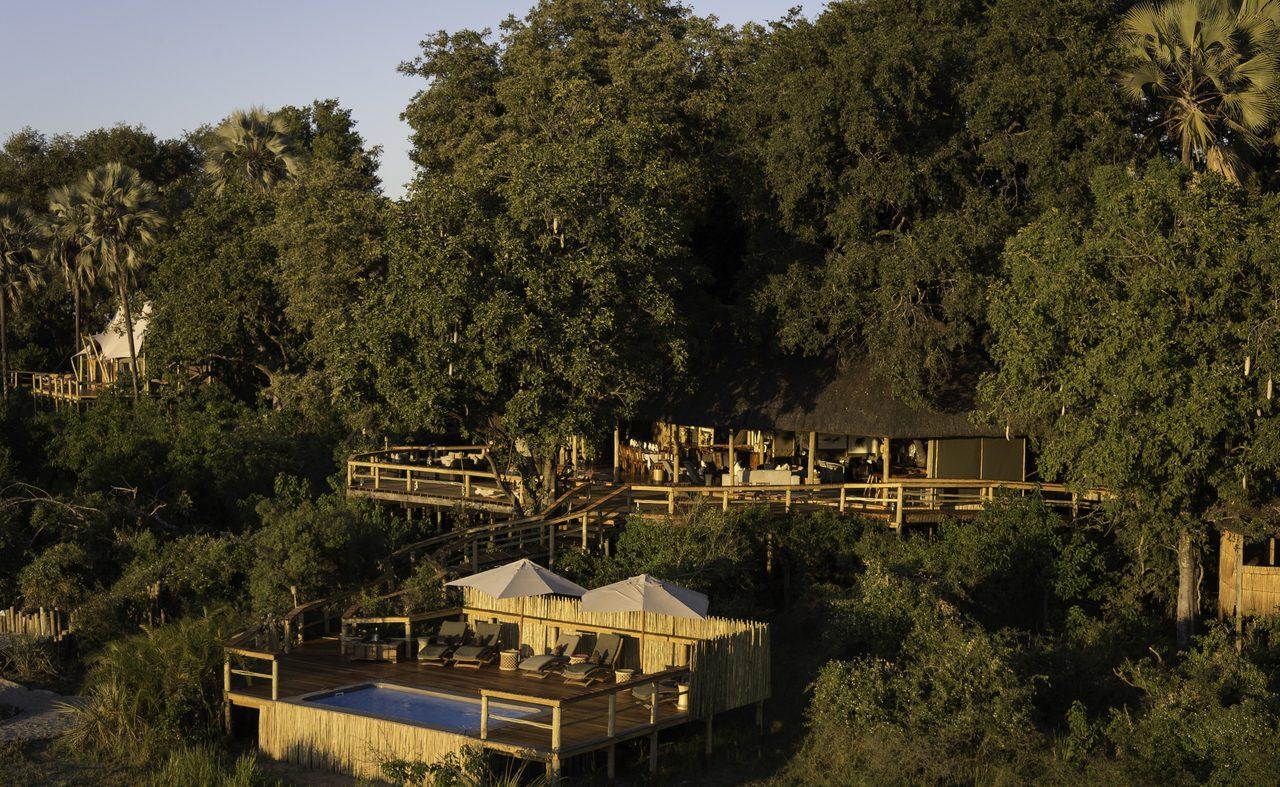 Pool und Lodge von Kwetsani Botswana