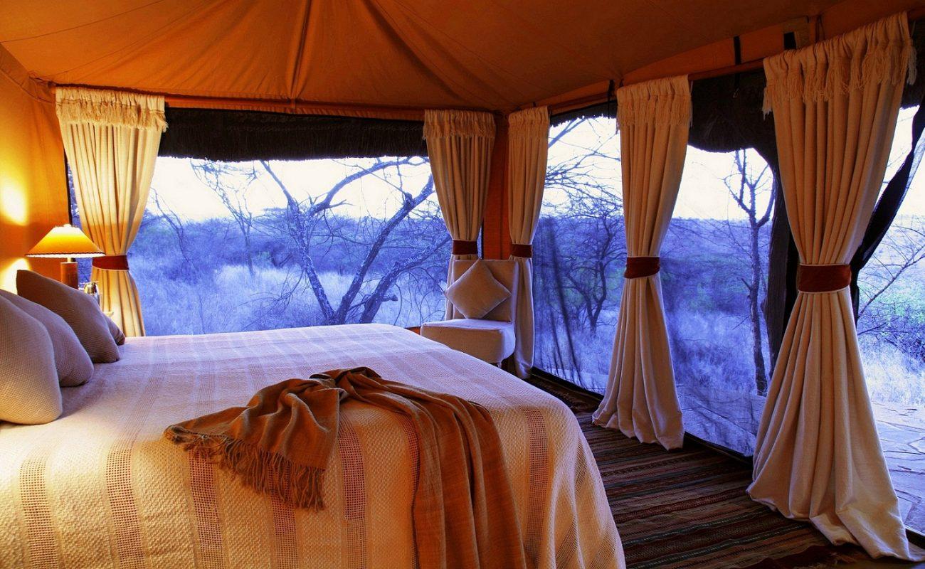 Genießen Sie herrliche Aussichten von Ihrem Luxuscamp in Lewa in Kenia