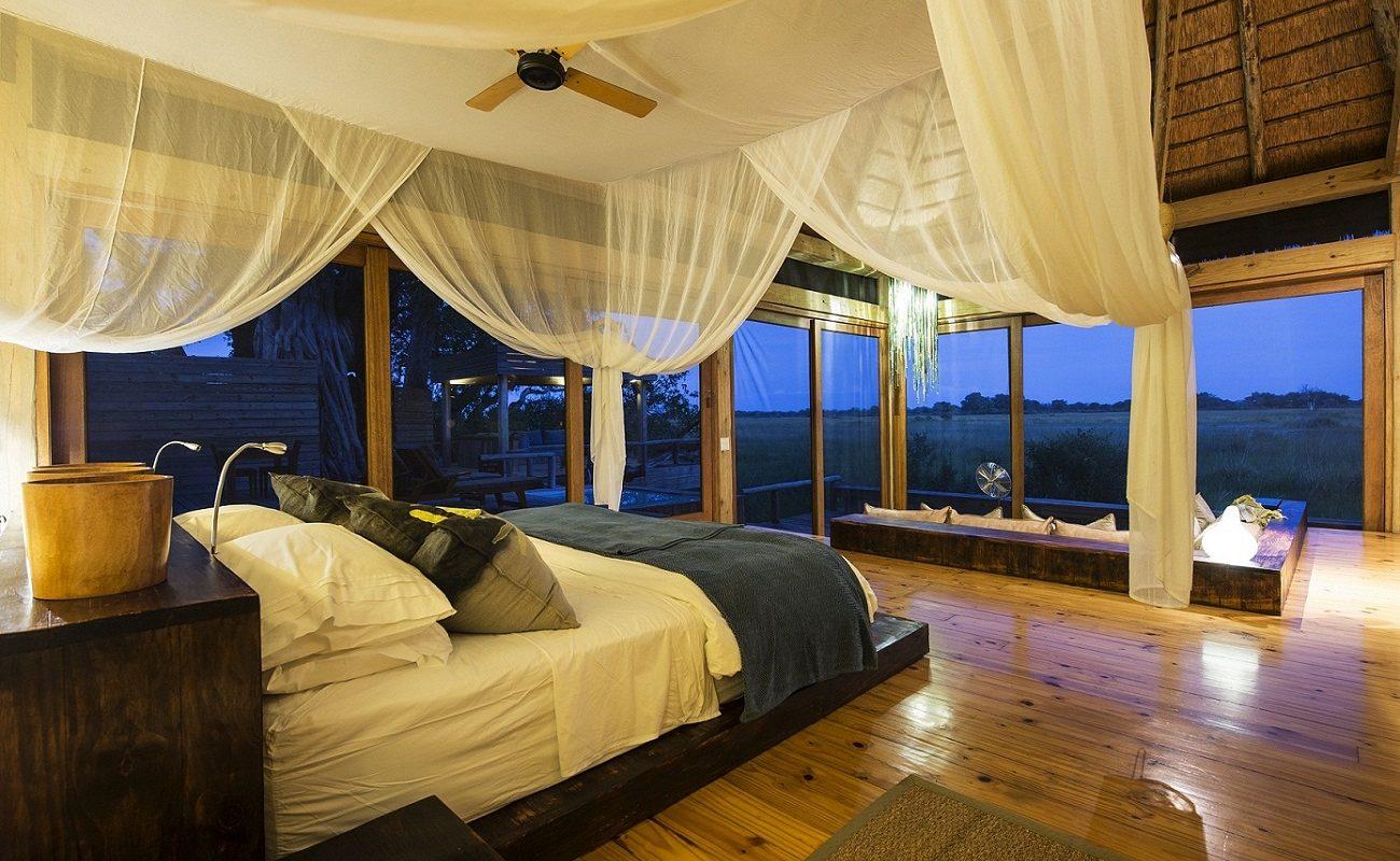 Der großzügige Schlafbereich der Luxussuite