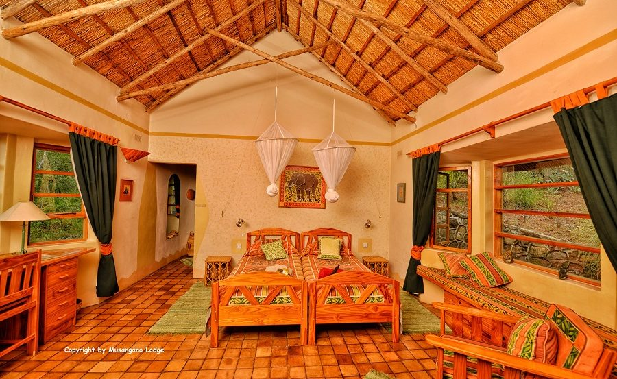 Chalet Mutepe der Musangano Lodge