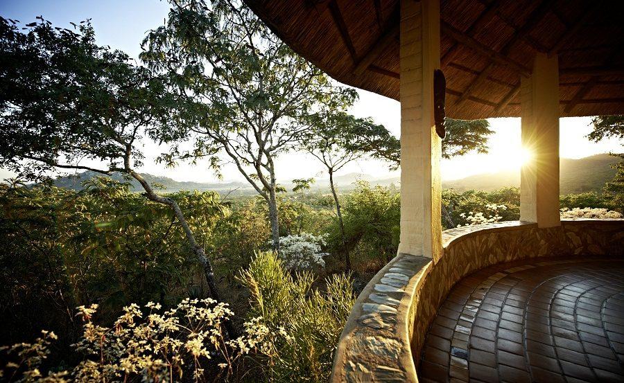 Sonnenaufgang von Lodge Mupembere der Musangabo Lodge