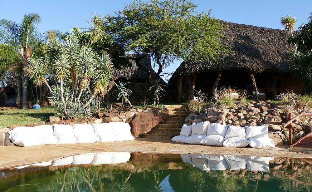 Pool vom Ol Malo House auf dem Laikipia Plateau