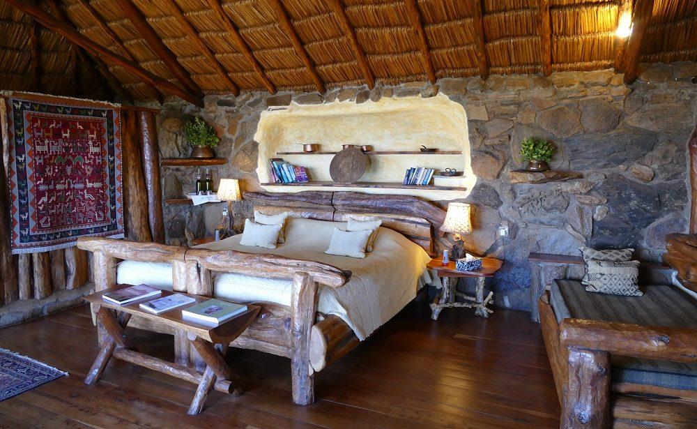 Eines der individuellen Zimmer in der Ol Malo Lodge