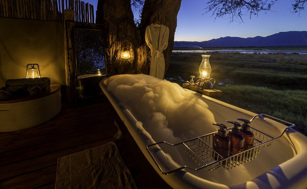 Bath with a View im Wilderness Camp