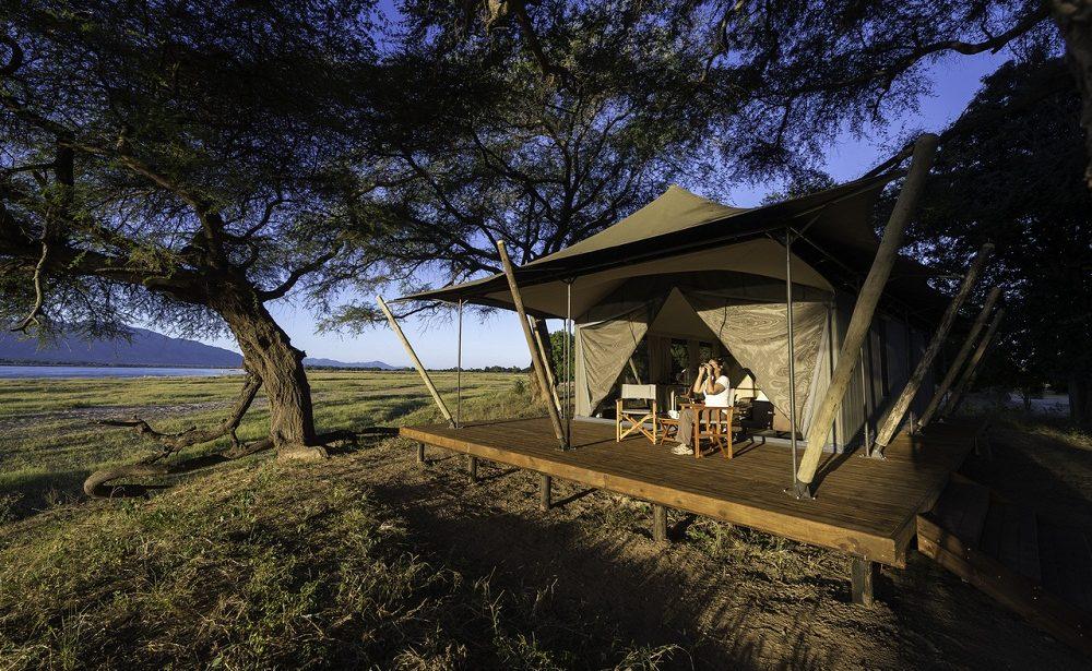 Zelt des Luxuscamps von Wilderness Safaris