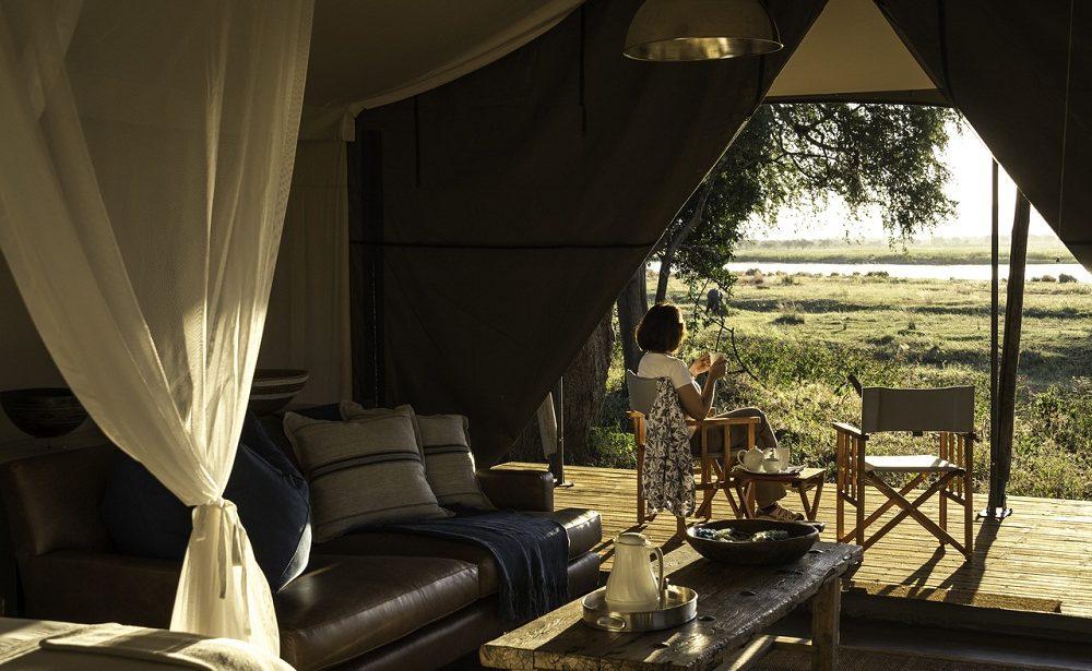 Auf der Veranda Ihres Zeltes