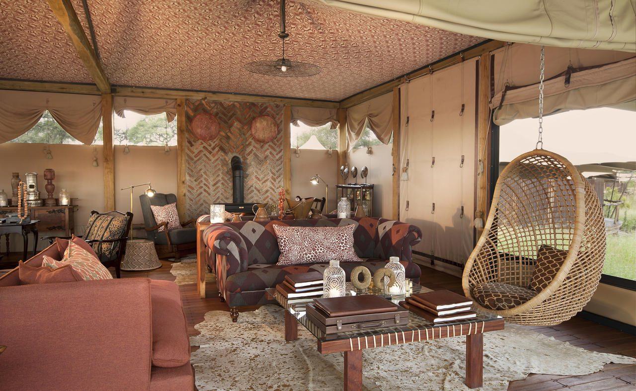 Lounge im Haupthaus von Somalisa