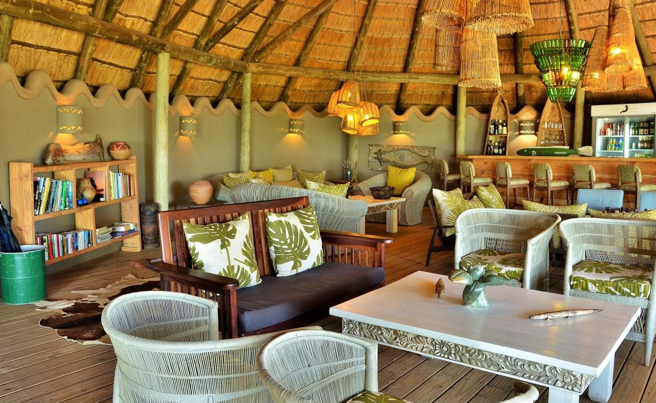 Lounge der Bakwena Lodge