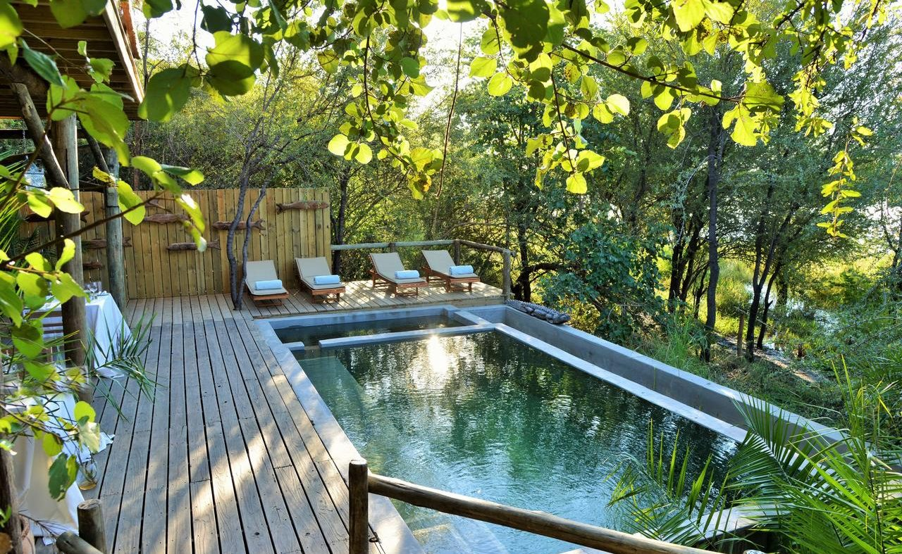 Eco Pool der Chobe Bakwena Lodge