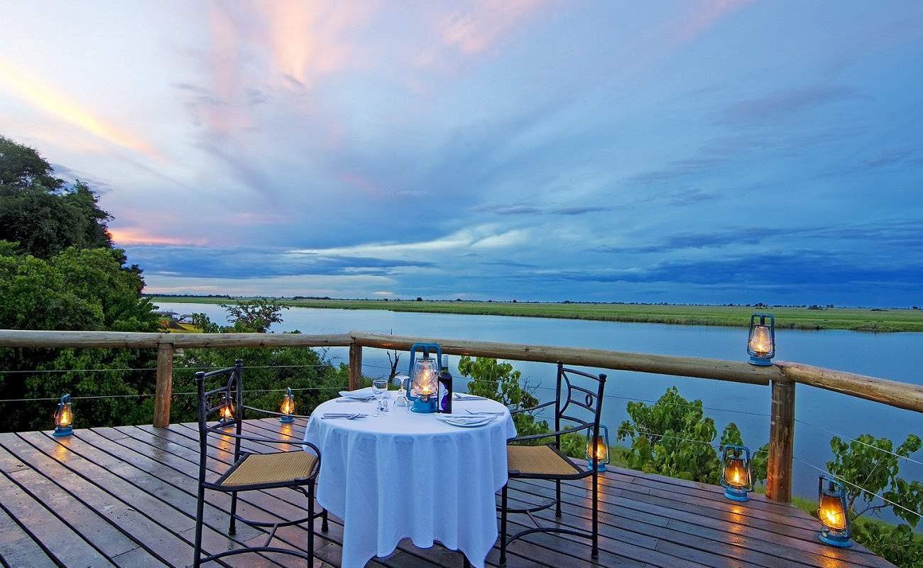 Der schönste Platz für einen Sundowner an der Chobe River Front