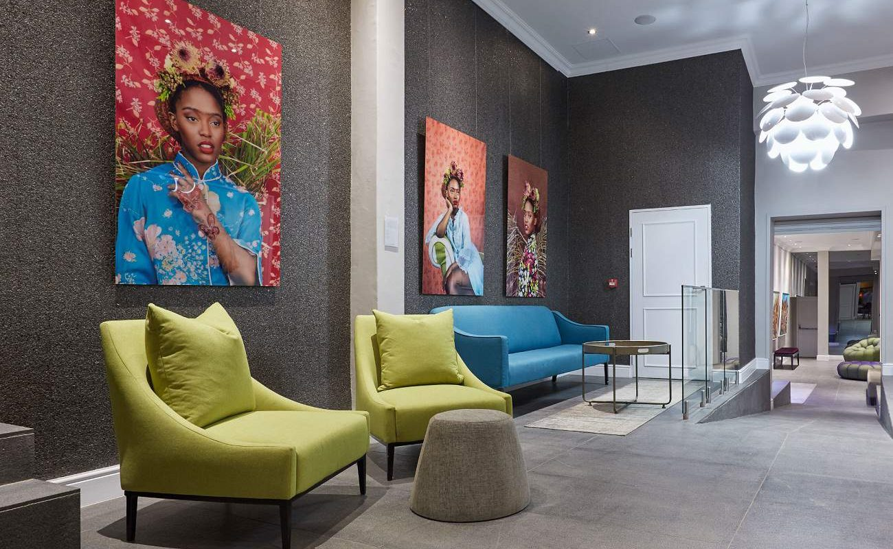 Lounge des Art Hotels in Kapstadt