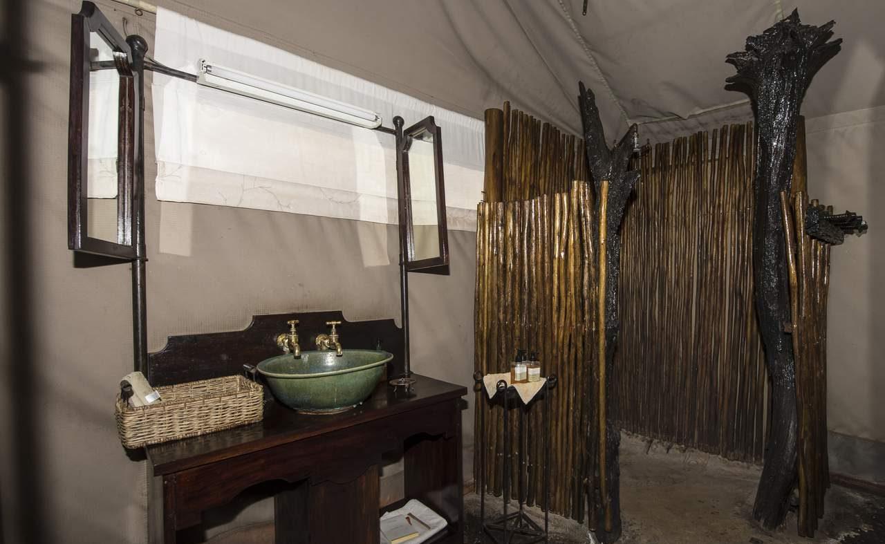 Bad eines Zeltes